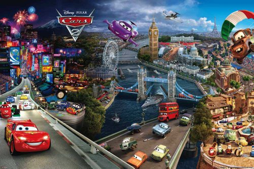 Tour Großes Poster (Empire 430151 Cars - 2 - World Tour - Disney Film Movie Kino Poster Druck - Grösse 91.5 x 61 cm)