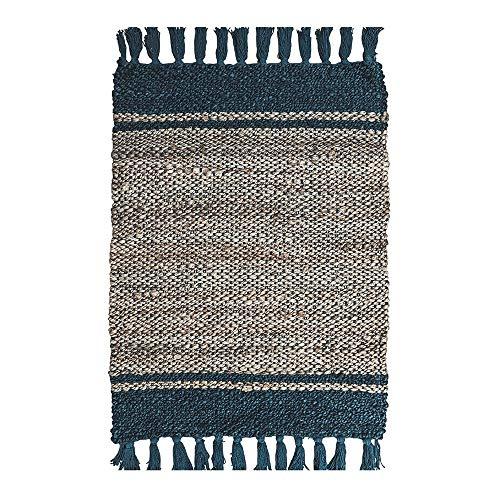 Europäische Kreative Quaste Quadratischen Teppich Baumwolle Und Leinen Handgemachte Gewebte Matten Wohnzimmer Schlafzimmer Erker Teppich -