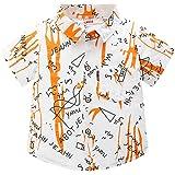 BOBORA Camisa Polo con Estampado de Dinosaurio de Manga Corta de Verano para Niños 1-6Años