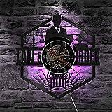 ZDwawz Vinyl Pared Vinilo Record Abogado de la balanza de la Justicia Oficina Decoración de la Sala Abogado Abogado Disco de Orden de la Ley Pase el Regalo de la Barra