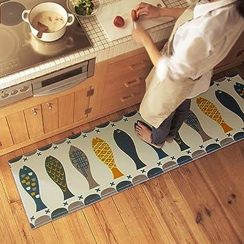 San Bodhi® Modern Fisch Print Teppiche Schlafzimmer Küche Fußmatte