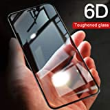 Doubledicestore Edge to Edge 6D Tempered Glass Compatible with oneplus 6T Full Coverage (Black)