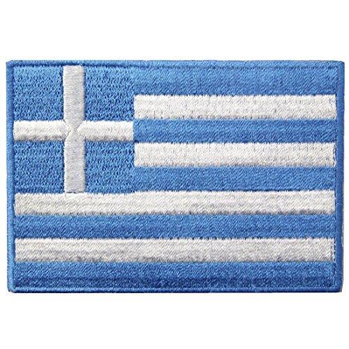 Griechenland Flagge Fahne gestickte Emblem Griechische Eisen auf Sew auf National Patch (Griechenland Girl Kostüm)