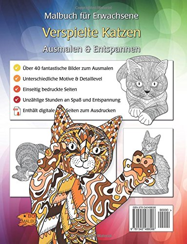 Verspielte Katzen: Malbuch für Erwachsene (Bilder von Tieren zum ...