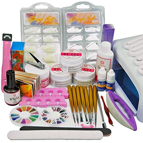 Coscelia 36W UV Lampe Blanc Séchoir à Ongles UV Gel Decor Limes Outils Manucure Kit