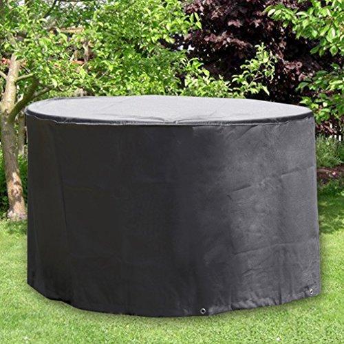OUTAD Gartenmöbel Abdeckung Rund wasserdicht Schutzhülle Abdeckplane für Möbelsets, Gartentisch und Stühle (Ø 188 x 84cm)