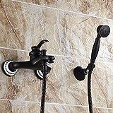 S.TWL.E Küche Küchenarmatur Waschtischarmatur Mischbatterie Spülbecken Armatur Armatur Wasserhahn Bad Black Shower Kit Wall Easy Rain Shower Bathroom Shower Set Wall Mounted E
