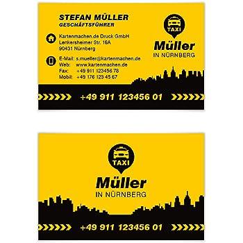 Taxi Visitenkarten Online Gestalten Designed Für
