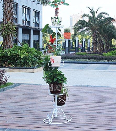 Zhanwei ripiani ruota la mensola del fiore 7 strati di balcone rack del vaso del fiore multi-layer ed ancora rack del fiore del ferro soggiorno moderno con i rack in vaso europeo di alta qualità bonsai shelf scaffale fioriera ( colore : bianca , dimensioni : 56*23*154cm )