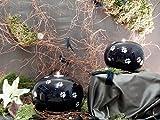Kugelurne aus Keramik, Karminrot gesprenkelt mit schw. Pfötchenspuren, Vol. ca. 1,00 Ltr. - 4