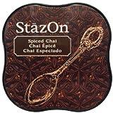 Tsukineko SZM-45 StazOn Spiced Chai Midi Stempelkissen, Synthetic Material, braun, 5.7 x 5.7 x 2.3 cm
