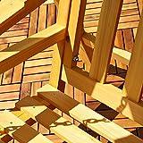 Beige Holz Hollywoodschaukel inkl. Dach - 5
