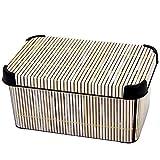 Curver Aufbewahrungsbox Bambusmotive Dekobox Regalbox Box Aufbewahrungskiste Utensilienbox 28,5 x 16 x 13,5 cm