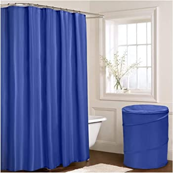 ShawsDirect Mayfair Waterproof Shower Bath Curtain Mildew Resistant 180cm X 70in 100 Polyester Includes 12 Hooks And Handle Carry Bag
