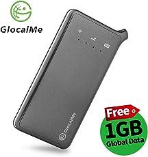 GlocalMe U2 4G LTE mobiler Hotspot mobiler Wlan Global MiFi mit Powerbankfunktion, mit 1 GB globalen Daten, Simlock-frei, ohne Roaming-Gebühren, verwendbar in über 100 Ländern und Regionen, kompatibel mit Smartphones, Tablets, Laptops