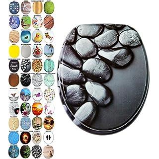 WC Sitz mit Absenkautomatik, viele schöne WC Sitze zur Auswahl, hochwertige und stabile Qualität aus Holz (Hot Stones)