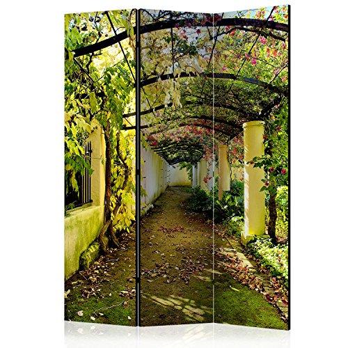 murando Raumteiler Pergola Natur Foto Paravent 135x172 cm beidseitig auf Vlies-Leinwand Bedruckt...