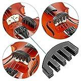 Dämpfer für Violine einfach zu benutzen 5Zähne für Violine 4/4Gummi leicht weich und Sticker Selbstklebend Violinen-Taste Bund Marker durch Wady