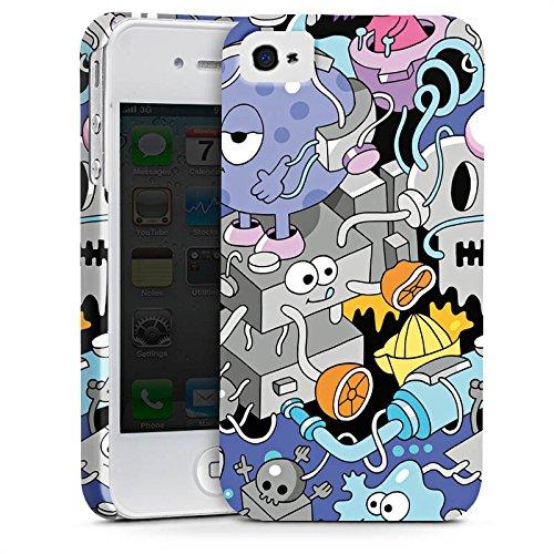 Apple iPhone X Silikon Hülle Case Schutzhülle Comic Art Kunst Premium Case glänzend