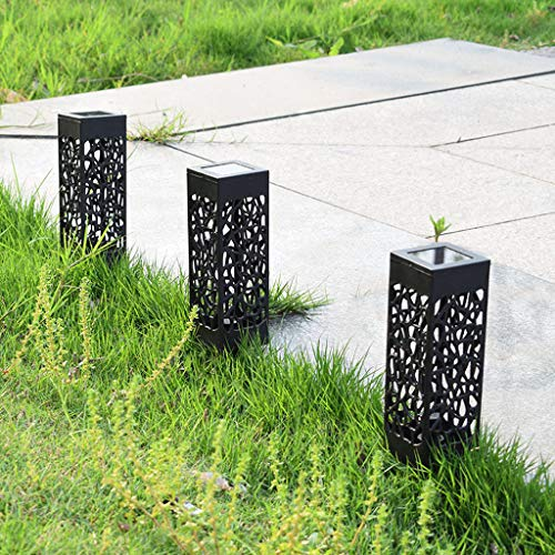Solarleuchte Garten 3 Stück Solargarten für Dekorative Atmosphäre LED Garten Hängende mit Laterne Wasserdicht für Rasen/Hof/Gehweg/Weihnachten
