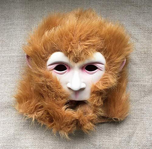 M&M Halloween Scary Maske Affen Kopfbedeckung, Maskerade Dekorative Kopfbedeckung, Maske