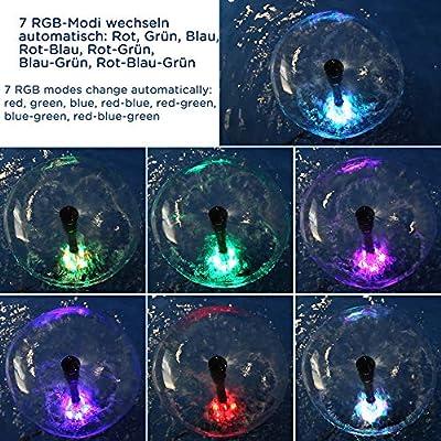 Yorbay Unterwasser RGB LED-Leuchten mit 4.8 Meter Stromkabel, für Tauchpumpe Springbrunnenpumpe Wasserspielpumpe Gartenteich