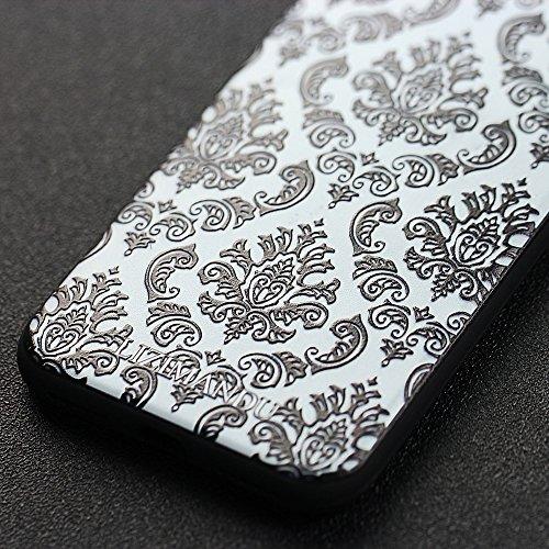 iPhone 6 hülle,iPhone 6s hülle,Lizimandu TPU 3D Handyhülle Muster Case Cover Für iphone6/6s(Blaue Blume/Blue Flower) Spitze Blume/Lace Flower