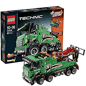 lego technic 42008 jeu de construction le camion de service jeux et jouets. Black Bedroom Furniture Sets. Home Design Ideas