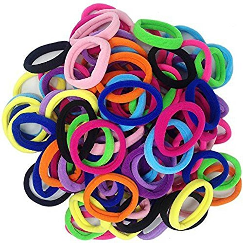 Attire Fashions 45pcs 8mm Mix Colors Girls Elastic Hair Ties Bands Rope Ponytail Holders Headband Scrunchie Hair Accessories