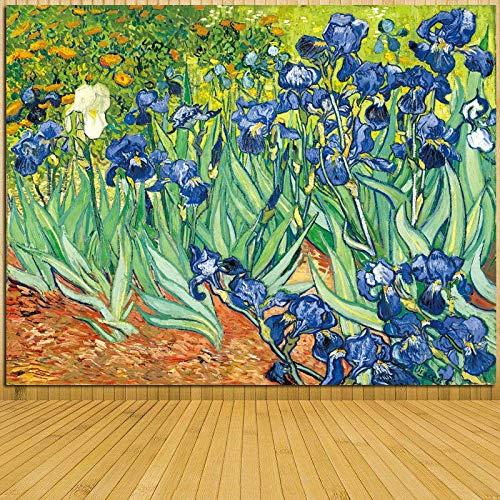 zzlfn3lv Van Gogh Serie Iris Blumendruck Leinwand Stickerei schöne Handwerk Dekoration Wohnzimmer ist EIN gutes Geschenk für die Familie-40x60cm -