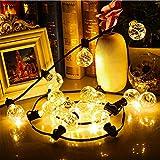 Lichterkette G40 LED Weihnachten Außen Garten Lichterketten 32ft 30 Glühbirne IP44 Wasserdicht Weihnachtsbeleuchtung Deko Lam