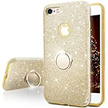 Funda iPhone 6S Plus, Funda iPhone 6 Plus, Miss Arts Carcasa Brillante Brillo con soporte, cubierta exterior de TPU suave + armazón interior de PC duro para Apple iPhone 6S / 6 Plus -Oro