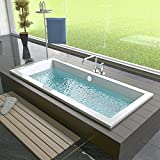 Design Badewanne Rechteck Badewanne 1800 x 800 x 475 mm Badezimmer Bad Standwanne -
