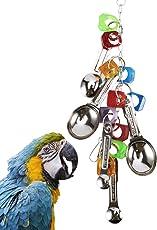 Surfmall Papageienspielzeug Pet Toy for Bird Vogel Chew Käfige hängen Edelstahl Papagei Spielzeug Löffel