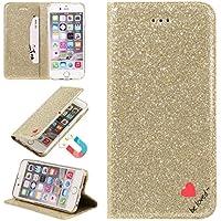 Sycode Glitzer Schutzhülle für iPhone 5S,Flip Hülle für iPhone SE,Luxus Noble Bling Glitter {Be Loved} Herz Entwurf... preisvergleich bei billige-tabletten.eu