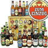 Zum Einzug | Bieradventskalender mit Bieren aus aller Welt | Geschenk zum Einzug im Büro | INKL gratis Bierbuch