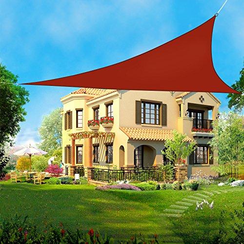 Greenbay Voile d'ombrage Triangulaire | 5x5x5m Terre Cuite | Une Protection des Rayons UV | Toile d'ombrage Auvent Pare-soleil de Jardin