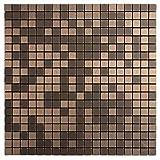 royllent modernen Matel Aluminium-Mosaik Bursh Typ Abziehen & Aufkleben Deko für Küche Fliesenspiegel Accent Wand-TV Sofa Hintergrund Wall 1FT² Badezimmer