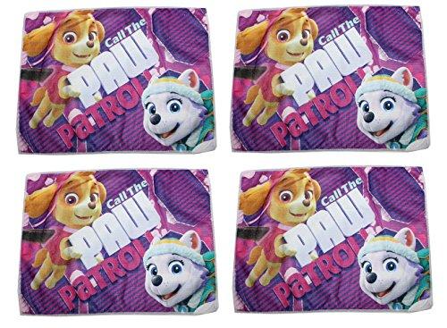 Unbekannt 4 Stück Nickelodeon Paw Patrol Mädchen Waschlappen 40 x 31cm
