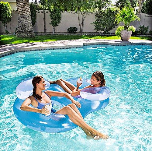 Bestway Doppel Schwimmsessel Luftmatratze Pool Schwimmreifen Wasserliege #5256