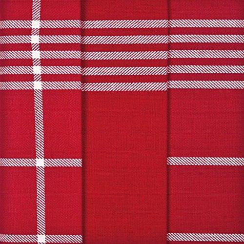 Ross 3er Pack Baumwoll-Geschirrtücher 1837 rot, 3- Pack 50x70 cm (Rot Geschirrtuch)
