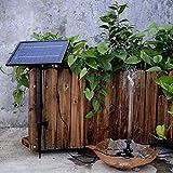 SHIJING 10 V 5 Watt Solarbetriebene Bürstenlose Wasserpumpe Eingebauter Akku Tauchpumpe Brunnen Gartenteich 200L / H Aufzug 150 cm