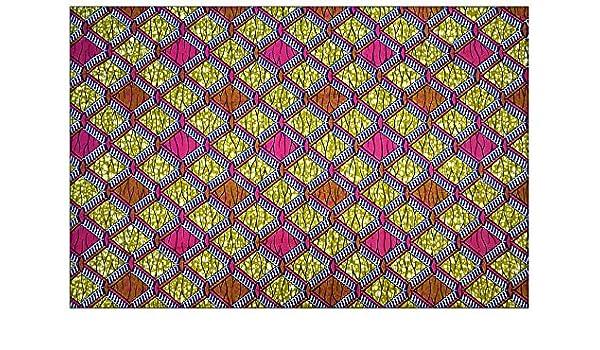 6 Meter Java Dashiki/Makenzi Wachs Print 100% Baumwolle ...