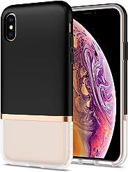 Spigen La Manon Jupe Serisi Kılıf iPhone XS ile Uyumlu / TPU AirCushion Teknoloji / Ekstra Koruma, Black