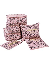 1x Conjunto de Unisexo Viaje Embalaje Cubitos Impermeable Oxford Tela Almacenamiento bolsa 6pcs Impresión Embalaje Organizadores Malla bolsas de embalaje Artículos de viaje Funda de viaje