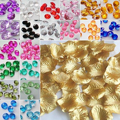 TtS 100pcs Silk Rose Petals Confetti Wedding Flowers Party Decoration Petal Gold