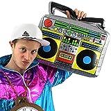 German Trendseller Aufblasbares Radio XXL ┃ Ghettoblaster ┃ 46 cm x 30 cm ┃ Party Dekoration ┃ Rapper und Gangster ┃ Boom Box ┃ 80´s - 90´s ┃ Karneval / Fasching