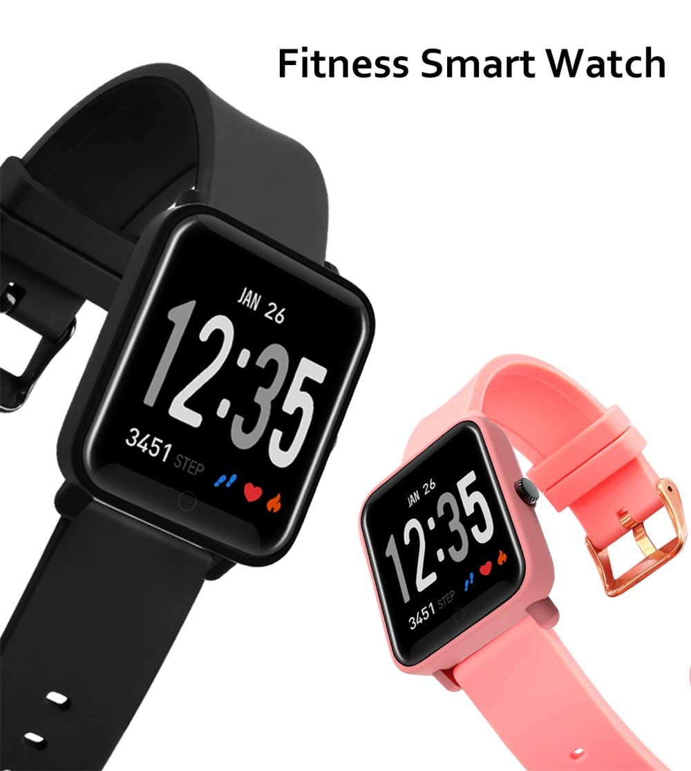 Fitness Tracker IP68 Impermeable Monitor, Letopro Rastreador de Pulsera Actividad Smartwatch Soporte Monitor de ritmo cardíaco Podómetro de presión arterial para Android IOS Mujeres Hombres 8
