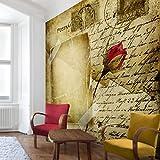 Apalis Vliestapete Blumentapete Postcards from Heaven Fototapete Quadrat | Vlies Tapete Wandtapete Wandbild Foto 3D Fototapete für Schlafzimmer Wohnzimmer Küche | Größe: 240x240 cm, mehrfarbig, 97923