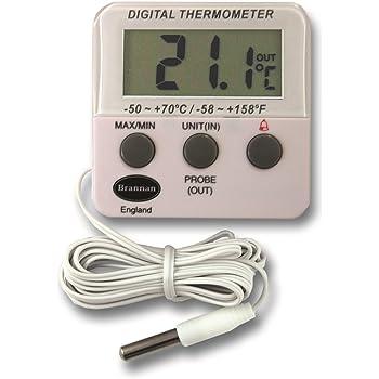 thermometer world thermom tre digital pour r frig rateur cong lateur avec fonctions d alarme et. Black Bedroom Furniture Sets. Home Design Ideas